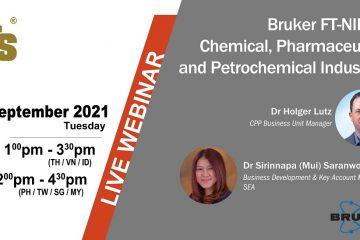 Webinar: Bruker FT-NIR cho các ngành công nghiệp hóa chất, dược phẩm và hóa dầu